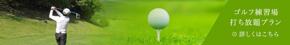 ゴルフ練習場打ち放題プラン詳しくはこちら